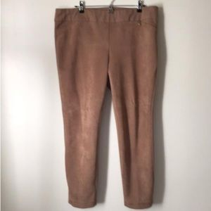 Carmel Suede Look Trouser